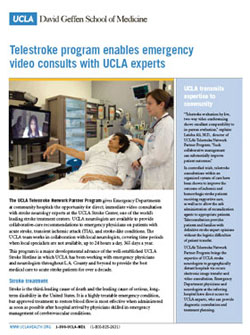 Telestroke program enables emergency video consults with UCLA experts